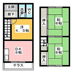 [一戸建] 愛知県名古屋市天白区一つ山2丁目 の賃貸【愛知県 / 名古屋市天白区】の間取り