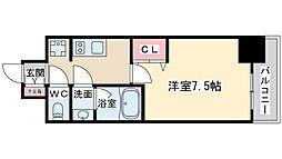 Mid Court Umekita[6階]の間取り