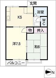 レピュート勝川I[2階]の間取り