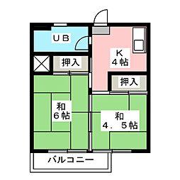 鳴海都ビル[3階]の間取り