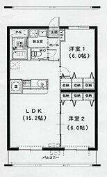 ソレイユII[301号室]の間取り