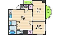 オーナーズマンション阪南[3階]の間取り