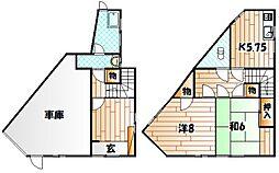 [一戸建] 福岡県北九州市若松区老松1丁目 の賃貸【/】の間取り