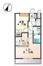 サンガーデン[1階]の間取り