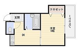 MIZUNOコーポ(ミズノコーポ)[4階]の間取り