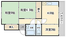 富士見ビル[301号室]の間取り