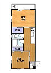 メゾン・ド・富士[203号室]の間取り