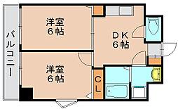 ドリーム県庁前[5階]の間取り