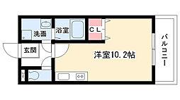 愛知県名古屋市名東区藤森西町の賃貸アパートの間取り