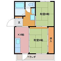 竹村マンション[B号室]の間取り