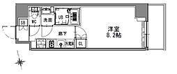 つくばエクスプレス 浅草駅 徒歩16分の賃貸マンション 4階1Kの間取り