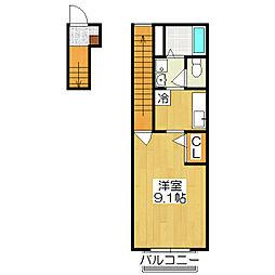 京都府京都市北区紫野西泉堂町の賃貸アパートの間取り