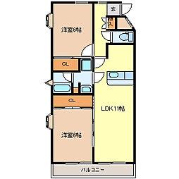 シャングリラ高松[3階]の間取り