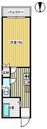 セレサフロール藤ヶ丘[203号室]の間取り