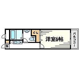 ハイツ24[1階]の間取り