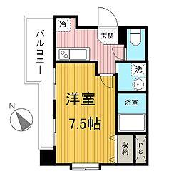 新千葉小川マンション[705号室]の間取り