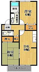 エクセルコーポ綾南 B棟[2階]の間取り