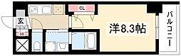 エステムコート名古屋今池アーバンゲート 13階1Kの間取り