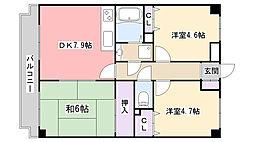 ラ・フォレ薬円台[2階]の間取り