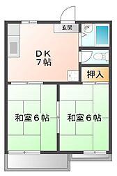 AKTY上甲子園B棟[1階]の間取り