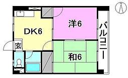 ハイツ居村[202 号室号室]の間取り