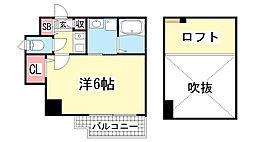 エステムコート神戸県庁前3フィエルテ[13階]の間取り