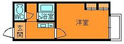 奈良県生駒郡斑鳩町興留6丁目の賃貸アパートの間取り