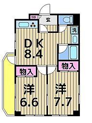 グレイス平成[1階]の間取り