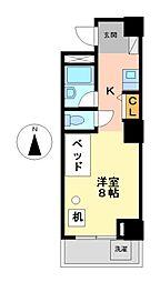 つばめ栄ハイツ[6階]の間取り