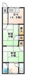 東阪田文化[1階]の間取り
