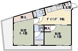 サンライトCITY[4階]の間取り