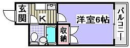 ラフォーレ助松[5B号室]の間取り