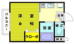 眺景マンション[3階]の間取り