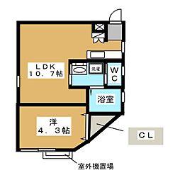 HMT Sakae[2階]の間取り