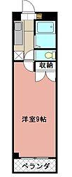 KMマンション八幡駅前[505号室]の間取り