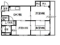 広島県呉市広古新開2丁目の賃貸マンションの間取り