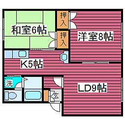 北海道札幌市東区北四十九条東5丁目の賃貸アパートの間取り