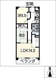 サニーコート神領[2階]の間取り