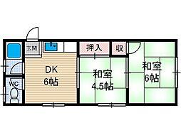明香ビル[3階]の間取り