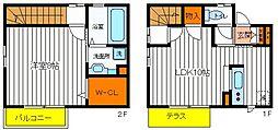[テラスハウス] 東京都昭島市朝日町5丁目 の賃貸【/】の間取り