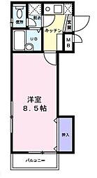 東京都豊島区雑司が谷1丁目の賃貸アパートの間取り