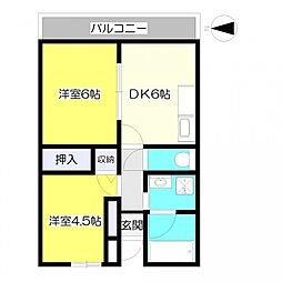 エルム大倉山9[313号室号室]の間取り