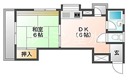 プチパレス(星陵)[2階]の間取り
