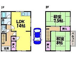 [一戸建] 愛媛県松山市朝生田町4丁目 の賃貸【/】の間取り