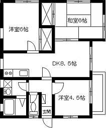 メゾンさくら 2階3DKの間取り