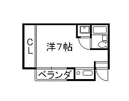 京都府京都市山科区勧修寺平田町の賃貸マンションの間取り
