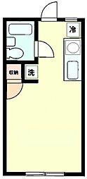 レイハウスII[204号室号室]の間取り