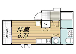千葉県佐倉市西志津5丁目の賃貸アパートの間取り