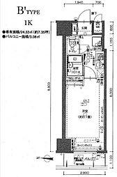 東京都江東区北砂3丁目の賃貸マンションの間取り