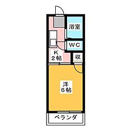 ハイツアイカ松本[2階]の間取り